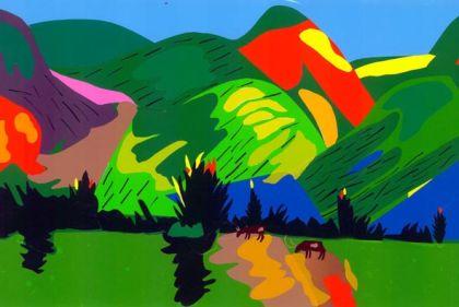 Зеленые горы копия картины м сарьяна
