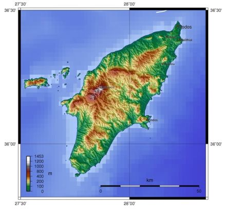 Географическая карта острова